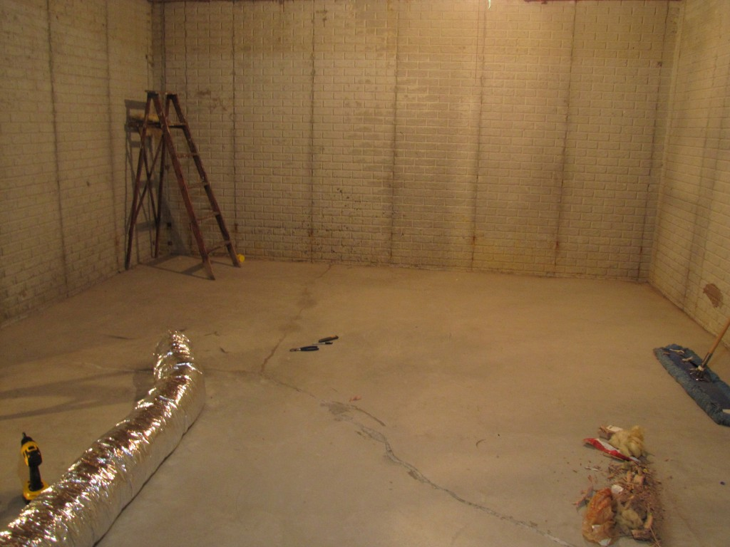 The ground work for the new studio