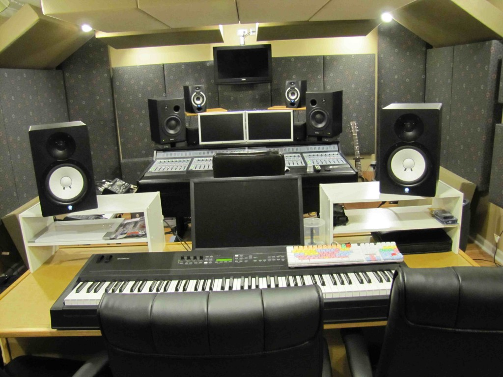 The finished studio